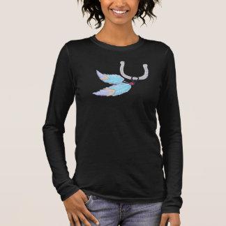 Horseshoe Blue Feathers Shirts