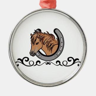 Horseshoe Border Metal Ornament