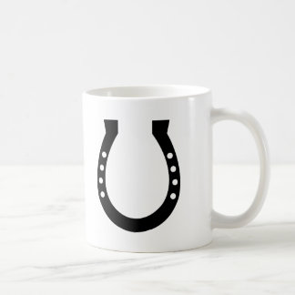 Horseshoe Classic White Coffee Mug
