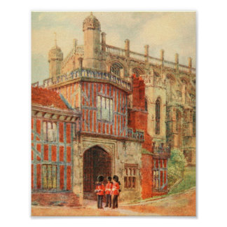 Horseshoe Cloisters, Windsor Castle, England Poster