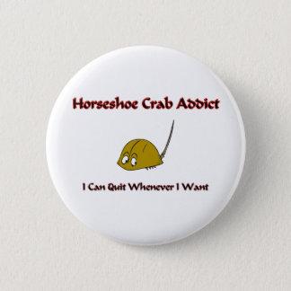 Horseshoe Crab Addict Pinback Button