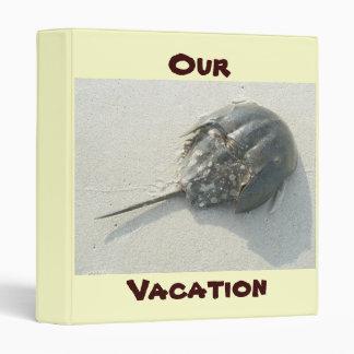 Horseshoe Crab Summer Vacation Binder