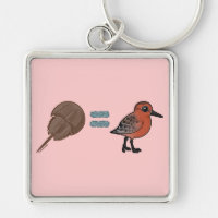 Horseshoe Crabs are Life Premium Square Keychain