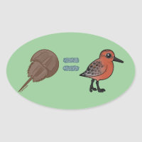 Horseshoe Crabs are Life Oval Sticker