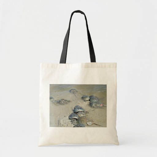 Horseshoe Crabs in water Tote Bags