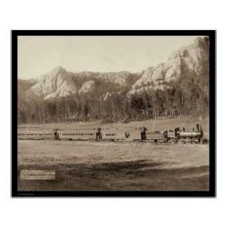 Horseshoe Curve near Custer City SD 1891 Poster