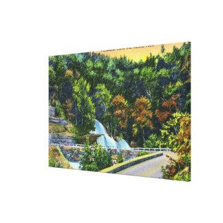 Horseshoe Curve View of Bastion Falls Canvas Print