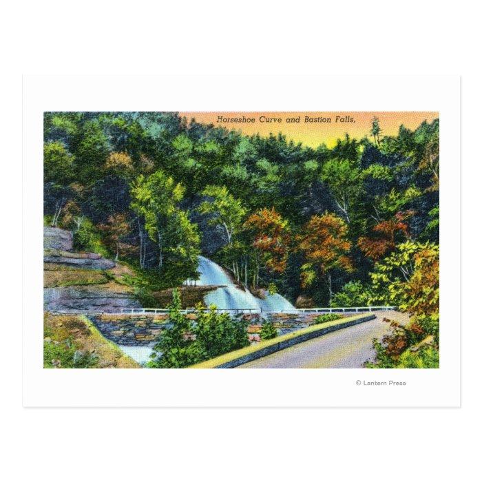 Horseshoe Curve View of Bastion Falls Postcard