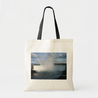 Horseshoe Falls And Rainbow From The Canadian Side Budget Tote Bag