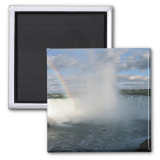 Horseshoe Falls And Rainbow From The Canadian Side 2 Inch Square Magnet