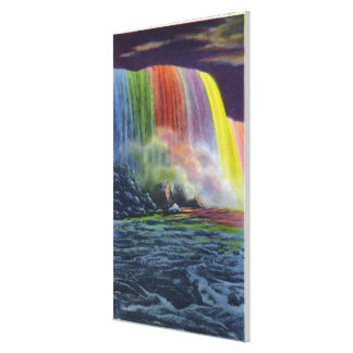 Horseshoe Falls Illuminated at Night Canvas Print