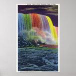 Horseshoe Falls Illuminated at Night Poster
