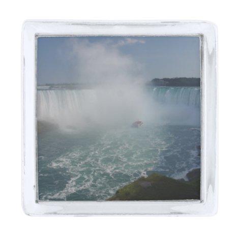 Horseshoe Falls in Niagara Falls Silver Finish Lapel Pin