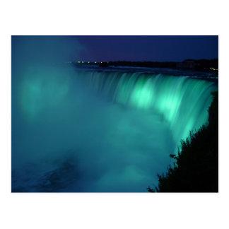 Horseshoe Falls Niagara Falls Aqua Glow Postcard