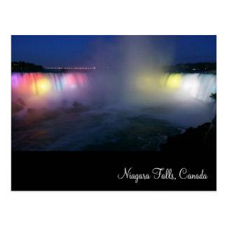 Horseshoe Falls ( Niagara Falls) at night Postcard