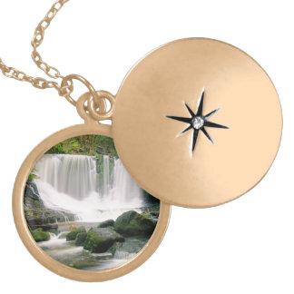 Horseshoe Falls Tasmania Australia Gold Plated Necklace