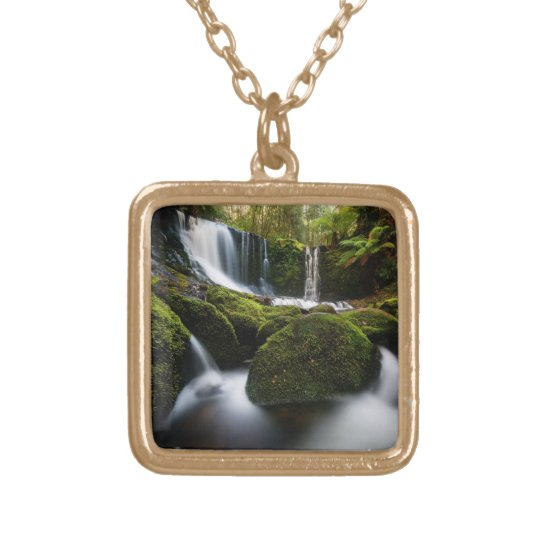 Horseshoe Falls Waterfall Gold Plated Necklace