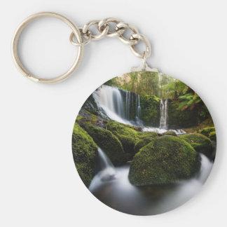 Horseshoe Falls Waterfall Basic Round Button Keychain
