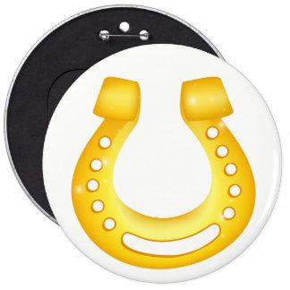 Horseshoe good luck button