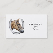 Horseshoe logo for farriers business card