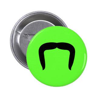 Horseshoe Mustache 2 Inch Round Button