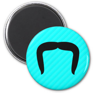 Horseshoe Mustache 2 Inch Round Magnet