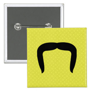 Horseshoe Mustache 2 Inch Square Button