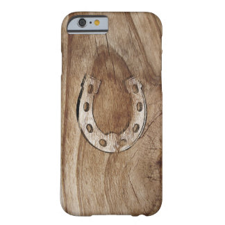 Horseshoe on Wood Barely There iPhone 6 Case