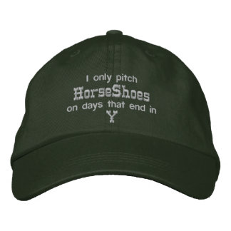 HorseShoe Pitching Adjustable Cap