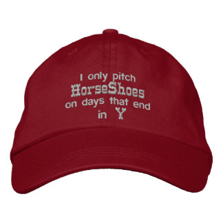HorseShoe Pitching Adjustable Cap Embroidered Hat