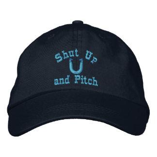 HorseShoe Pitching Adjustable Cap Embroidered Baseball Caps