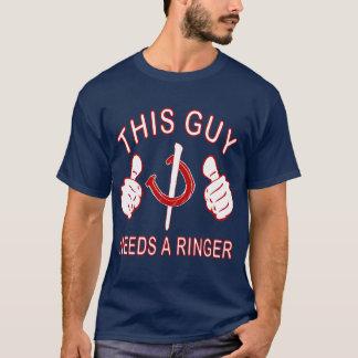HorseShoe Pitching Basic Dark Tee-Navy Blue T-Shirt