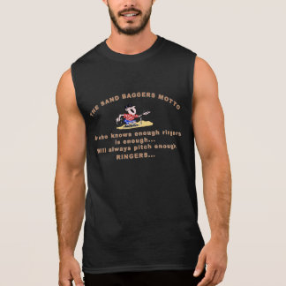 HorseShoe Pitching Sleeveless Tee SandBagger Motto