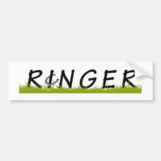 Horseshoe RINGER Bumper Sticker
