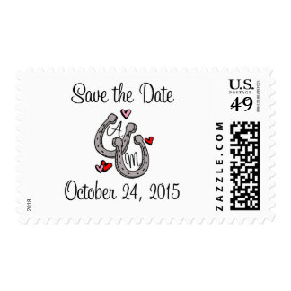 Horseshoe Save the Date - A & M Postage