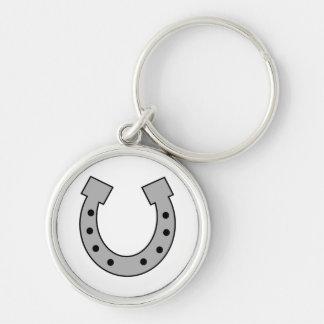 horseshoe Silver-Colored round keychain