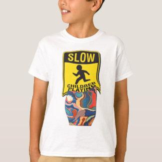Horseshoe Slow Children Playing T-Shirt