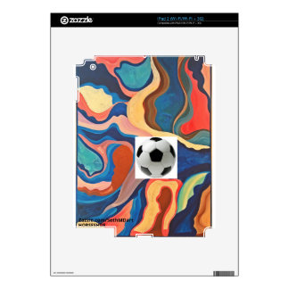 Horseshoe Soccer Ball iPad 2 Decal