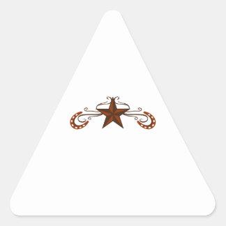 HORSESHOE STAR SCROLL TRIANGLE STICKER