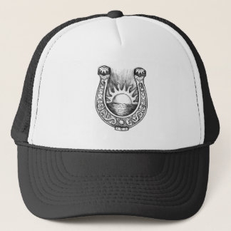 Horseshoe Sun and Sea Tattoo Trucker Hat