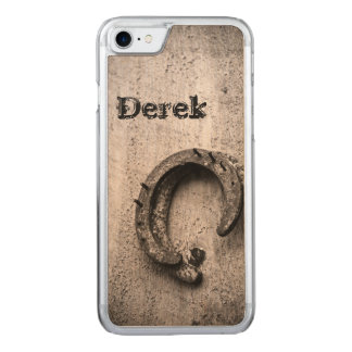 Horseshoe Vintage Sepia Photograph Carved iPhone 7 Case