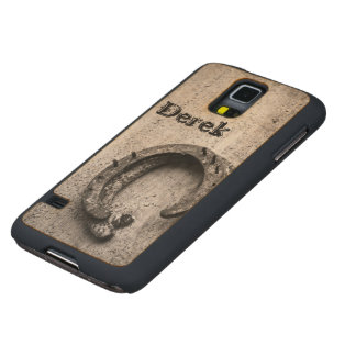 Horseshoe Vintage Sepia Photograph Carved Maple Galaxy S5 Slim Case