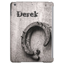 Horseshoe Vintage Sepia Photograph iPad Air Cover