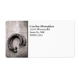 Horseshoe Vintage Sepia Photograph Shipping Label