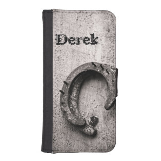 Horseshoe Vintage Sepia Photograph Wallet Phone Case For iPhone SE/5/5s