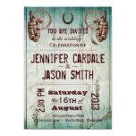 Horseshoe Wagon Wheel Barrel Wedding Invitations