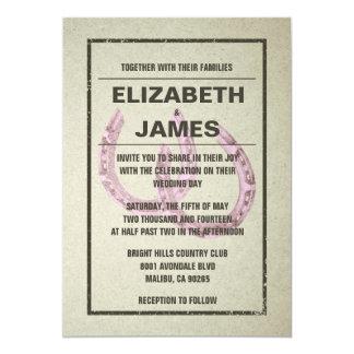 "Horseshoe Wedding Invitations 5"" X 7"" Invitation Card"