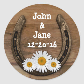 Horseshoe Wedding Sticker