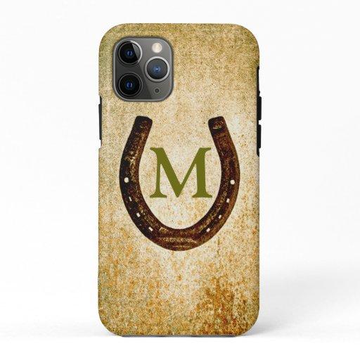 Horseshoe with Monogram to Personalize iPhone 11 Pro Case