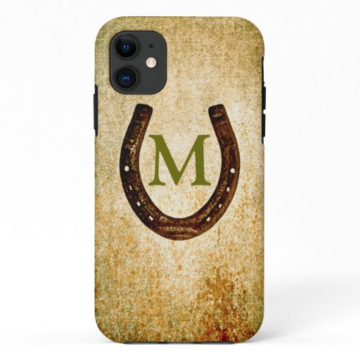 Horseshoe with Monogram to Personalize iPhone 11 Case